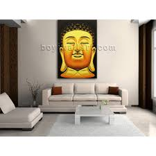 large feng shui painting abstract buddha head stately home decor buddha wall art