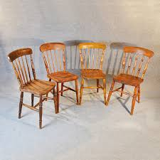 Country Dining Chairs Set 4 Four Elm Country Kitchen Dining Chairs Antiques Atlas With