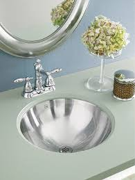 Drop In Sink Bathroom Decolav Hayley 1220 Simply Stainless Collection Round Undermount