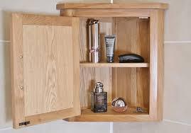 Bathroom Furniture Oak Solid Oak Wall Mounted Corner Bathroom Cabinet 601