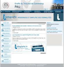 chambre de commerce de pau le greffe du tribunal de commerce et des sociétés de la ville de pau