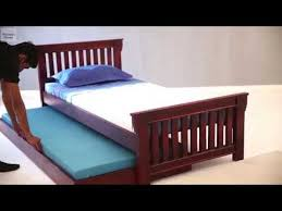 bed shoppong on line trundle bed shop kendra trundle bed online in mahogany finish