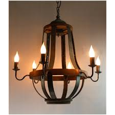 Iron And Wood Chandelier 579 Iron And Aged Wood Chandelier Country Vintage
