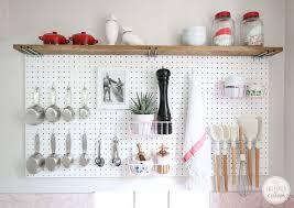 Decorating Ideas For Kitchen Shelves Best 25 Peg Board Kitchens Ideas On Pinterest Art Tool Storage