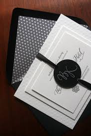wedding invitations black and white brock s modern black and white wedding invitations