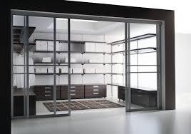 steel frame glass doors furniture plush modern minimalist bedroom decor with high glass