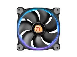 120mm rgb case fan thermaltake cl f042 pl12sw a riing 12 rgb led adjustable colour