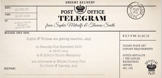 Telegram Wedding Invitation Pretty Luscious Things Vintage Wedding Invitations Review