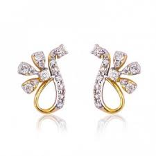 daily wear diamond earrings earrings vasudha diamond daily wear earrings online shopping