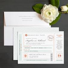 Boarding Pass Wedding Invitations Vintage Boarding Pass Destination Wedding Invitations