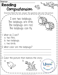 kindergarten reading passage 109 best reading comprehension images on guided