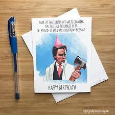 american psycho birthday card patrick bateman christian