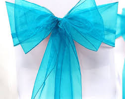 turquoise chair sashes turquoise chair etsy