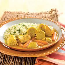 tajine de poulet au safran et artichauts à la mijoteuse recettes