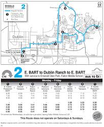 Bart System Map Local Routes Wheelsbus