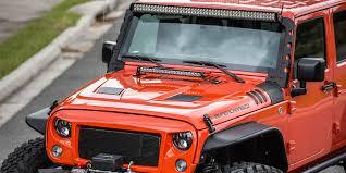 jeep jk hood led light bar 2015 jeep wrangler with rugged ridge grille and hood havoc led