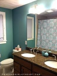 blue bathroom accessories