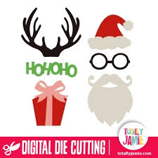 christmas photo booth props christmas photobooth prop accessories totallyjamie svg cut