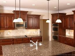 Kitchen With Island Images 90 Best Cherry Color Kitchens Images On Pinterest Cherry Kitchen