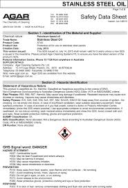 Ghs Safety Data Sheet Template Upcoming Changes To Agar S Safety Data Sheets Sds Product