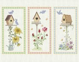 counted cross stitch pattern birdhouse sunflower flower