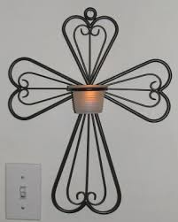 Votive Wall Sconce Partylite Antique Brass Cross Wall Sconce W Votive Cup For The