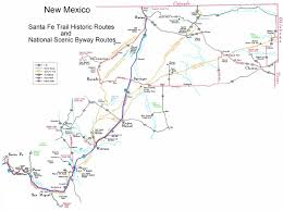 New Mexico Highway Map by Santa Fe Trail New Mexico National Scenic Byway Home Page