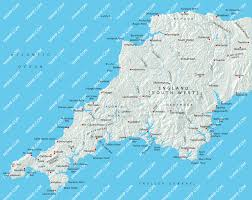 York England Map by South West England Map Illustrator Mountain High Maps Plus