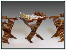 chess table and chairs table designs