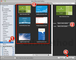 how to design and print business cards in word 2011