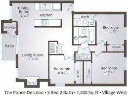 3 bedroom 2 bathroom 3 bedroom apartment floor plans pricing at