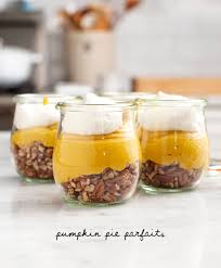 vegan pumpkin pie parfaits recipe and lemons