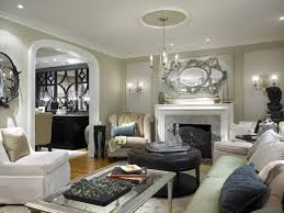 traditional living rooms with tv recessed light glass door