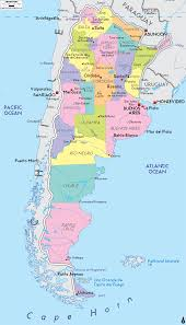 Geographical Map Of South America Detailed Political Map Of Argentina Ezilon Maps