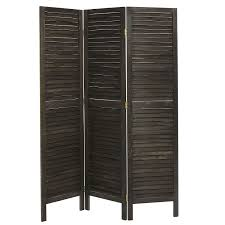 Partition Room Amazon Com Rustic Dark Brown Wood Louvered Panels Freestanding 3
