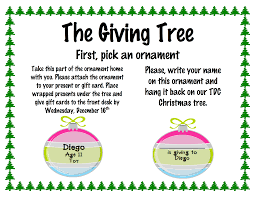 the giving tree starting friday november 27th