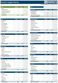 How To A Household Budget Spreadsheet Best 25 Monthly Budget Planner Ideas On Printable