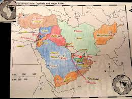 Southwest Asia Physical Map by Sw Asia Map Youtube
