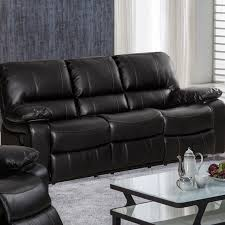 Black Leather Sofa Recliner Pulaski Leather Reclining Sofa Wayfair