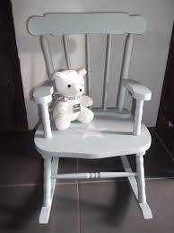 rocking chair chambre bébé fauteuil rocking chair en bois patine gris bleu avec etoile pour