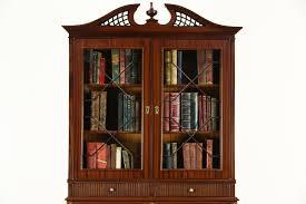 Secretary Desk Bookcase Georgian 1950 U0027s Vintage Secretary Desk U0026 Bookcase England Harp