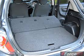 nissan micra trunk space 2014 toyota yaris zr hatch luggage space seat down forcegt com