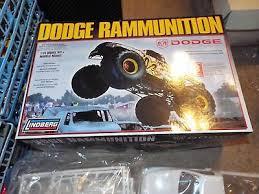 lindberg dodge ram rammunition 1 24 scale monster truck model kit