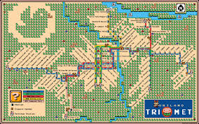 Portland Food Carts Map by Super Mario 3 Train Map Portland Trimet Max Wes Lrt Map 2013 Dave