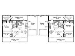 multi family home plans one story duplex house plan 001m 0003