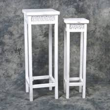 White Pedestal Flower Stand White Plant Stands U0026 Tables You U0027ll Love Wayfair