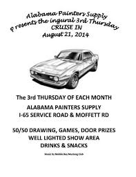 mobile bay mustang cruise ins calendar on carshowgeeks com