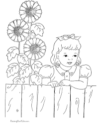 Sunflower Coloring Sheets 019 Sunflower Coloring Page