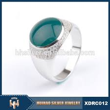 sale silver rings images Latest design big green stone ring turkey men silver rings for jpg
