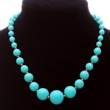 baby bead necklace images Vintage baby blue plastic bead choker length necklace jpg